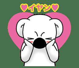 White koala returns sticker #960058