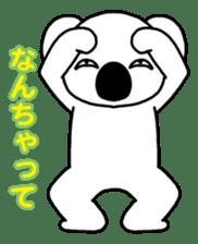 White koala returns sticker #960059