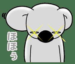 White koala returns sticker #960063