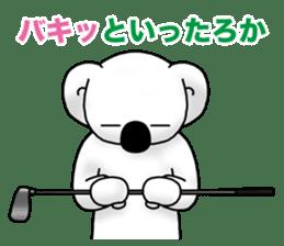 White koala returns sticker #960068