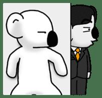 White koala returns sticker #960069