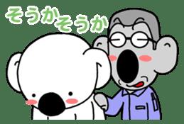 White koala returns sticker #960071