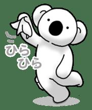 White koala returns sticker #960078