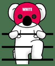 White koala returns sticker #960081