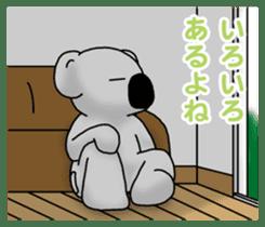White koala returns sticker #960085
