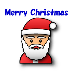 3D Santa Claus wish a Merry Christmas.