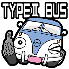 TYPE2 BUS (Blue&White)