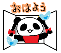 Panda girl sticker #964527