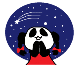 Panda girl sticker #964564