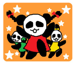 Panda girl sticker #964565