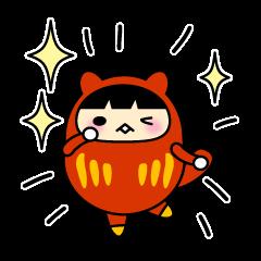 Kitty Cat Daruma