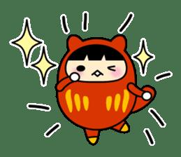 Kitty Cat Daruma sticker #965207