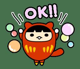 Kitty Cat Daruma sticker #965208