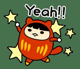 Kitty Cat Daruma sticker #965215