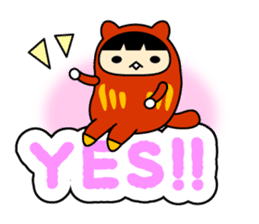 Kitty Cat Daruma sticker #965216