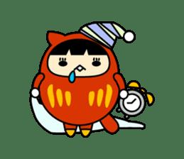 Kitty Cat Daruma sticker #965218