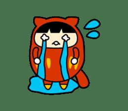 Kitty Cat Daruma sticker #965221