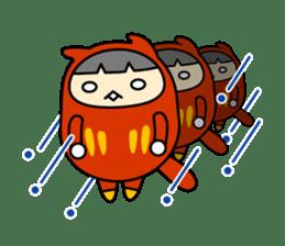 Kitty Cat Daruma sticker #965223