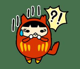 Kitty Cat Daruma sticker #965224