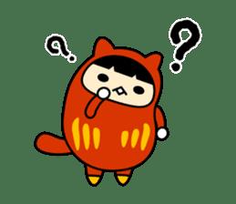 Kitty Cat Daruma sticker #965227