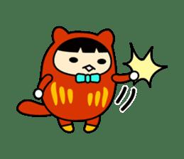 Kitty Cat Daruma sticker #965228