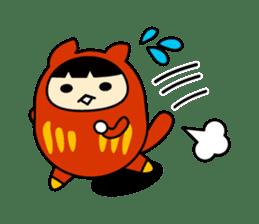 Kitty Cat Daruma sticker #965229