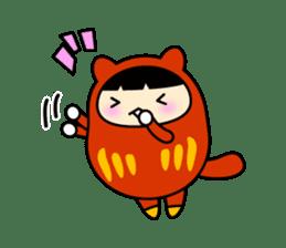 Kitty Cat Daruma sticker #965230
