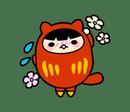 Kitty Cat Daruma sticker #965231