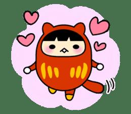 Kitty Cat Daruma sticker #965233
