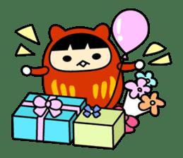 Kitty Cat Daruma sticker #965235