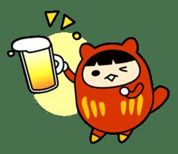 Kitty Cat Daruma sticker #965236
