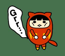 Kitty Cat Daruma sticker #965237