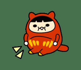 Kitty Cat Daruma sticker #965238