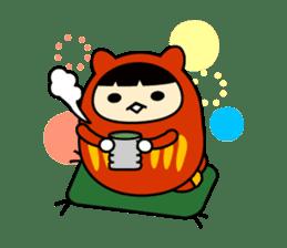 Kitty Cat Daruma sticker #965239