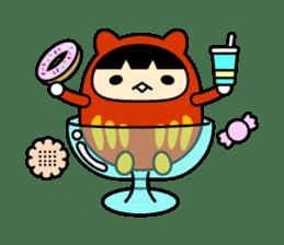Kitty Cat Daruma sticker #965240