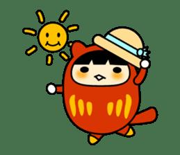 Kitty Cat Daruma sticker #965241
