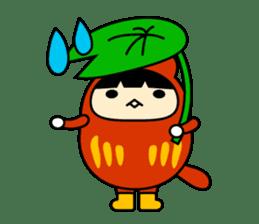 Kitty Cat Daruma sticker #965242