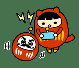 Kitty Cat Daruma sticker #965244