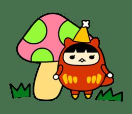 Kitty Cat Daruma sticker #965246