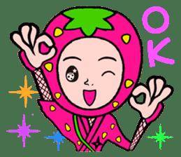 Strawberry ninja sticker #967692