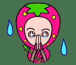 Strawberry ninja sticker #967699