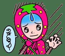 Strawberry ninja sticker #967703