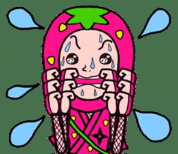 Strawberry ninja sticker #967706
