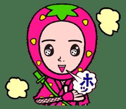 Strawberry ninja sticker #967717