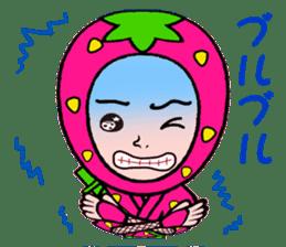 Strawberry ninja sticker #967724