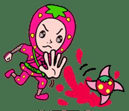 Strawberry ninja sticker #967725