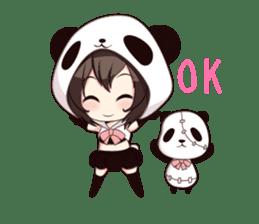 PANDA GIRL [ PAO & FLAN ] sticker #970647