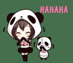 PANDA GIRL [ PAO & FLAN ] sticker #970650