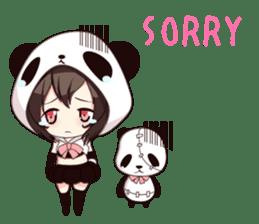 PANDA GIRL [ PAO & FLAN ] sticker #970651