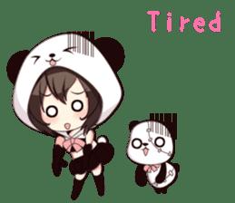 PANDA GIRL [ PAO & FLAN ] sticker #970652